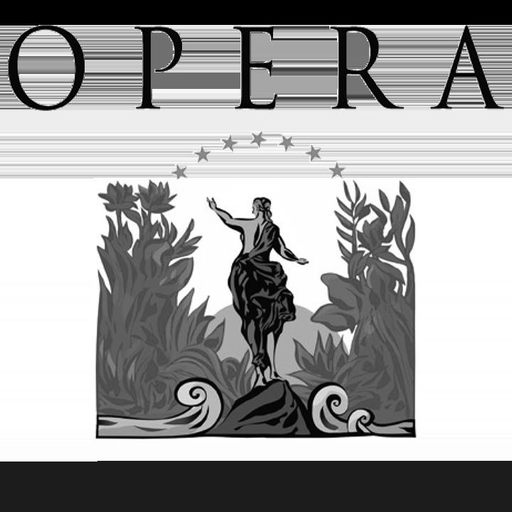 Logo OPERA, black & white
