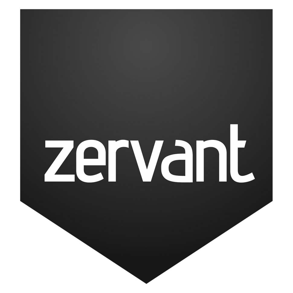 Logo zervant, black & white