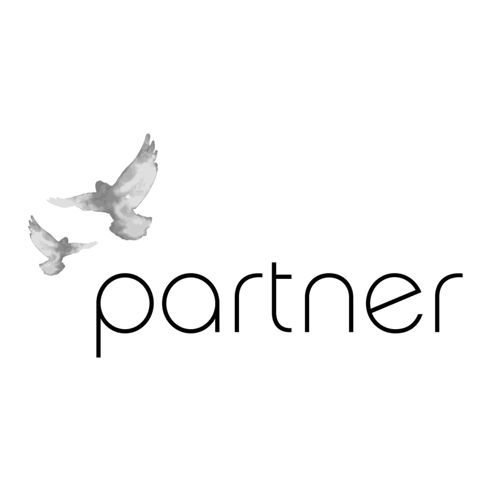 Logo partner, black & white