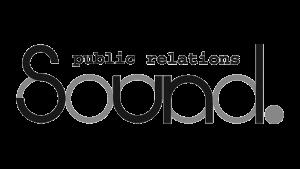 Logo Sound Public Relations, black & white